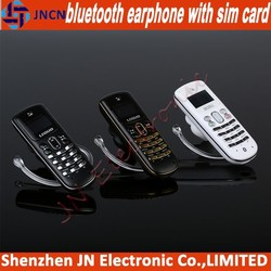 2014 new arrival bluetooth earphone GSM SIM CARD SLOT very smallest mini chinese mobile phone