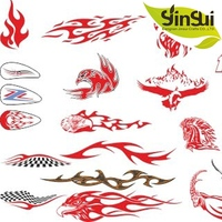 factory price custom motorcycle decal stickers
