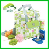 Double-layer foldable aluminum film lunch bag extra large insulated cooler bag,thermal lined cooler bag