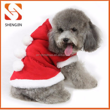 High quality fleece pet clothes with hat winter warm clothes dog costume