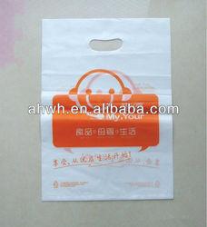 die cut PE plastic shopping bags