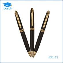 Advertising metal pen golden black ball pen customized ballpoint pens
