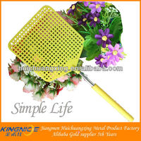 Stainless steel pole extendable mosquito shape fly swatter