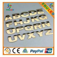 custom letter adhesive chrome 3d plastic 3d chrome letter