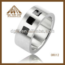 2013 fashion high quality stainless steel finger rings shinny surface