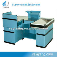 plastic belt check out retail cash counter furniture cashier counter