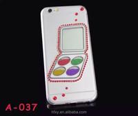 Customized eye shadow print tpu phone case for iphone6