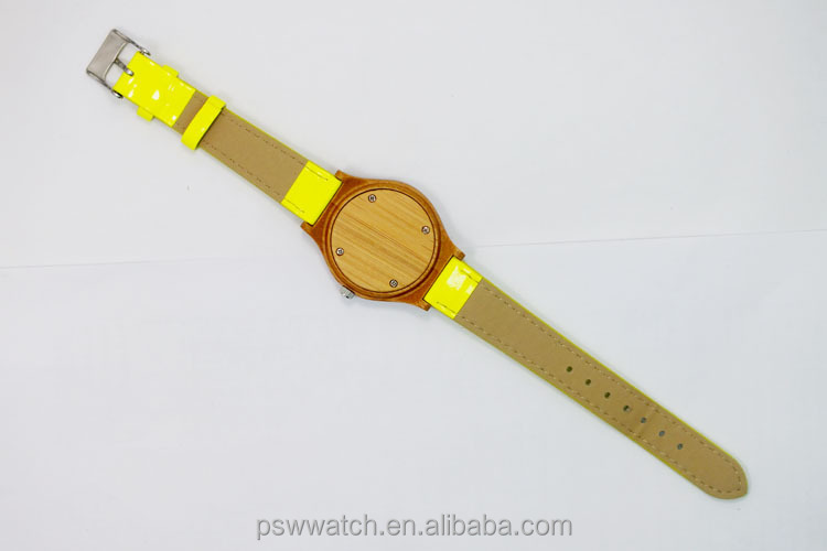 Hot sale Japan movt miyota 2035 hand made wood watch