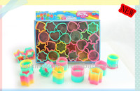 Newest Rainbow Circle for kids toys ,plastic spring toys
