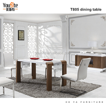 guangzhou furniture mall wooden 8 seater dining table T805