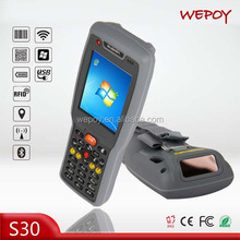 IP65 1D 2D Portable barcode data terminal with WIFI 3G Bluetooth