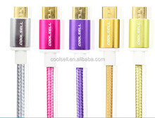 cable usb micro nylon for mobile phone