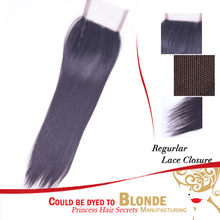 New Star Dark Brown Brazilian Virgin Hair Top Closure with Baby Hair With PU Arround The Perimeter - 22 Inch