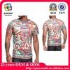OEM dye sublimation print T shirt/OEM sublimation t shirt wholesale hip hop shirts/oem T shirt