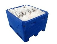 2015 new design white color PE 30L rotational mould ice box