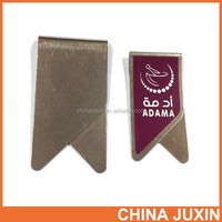 Stainless steel paperclip bulldog clip with full color laminated label imprint