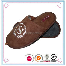 China yangzhou mens washable and soft bedroom slippers