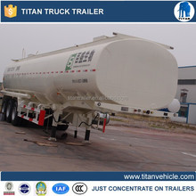 3 axle oil tanker semi trailer with leaf spring suspension