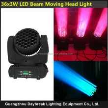 DJ moving head LED 36X3W beam DMX stage light dj light effect wash for show night club