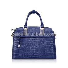 2015 popular Croco PVC synthetic leather handbag