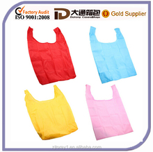 100% nylon Foldable reusable tote shopping bag