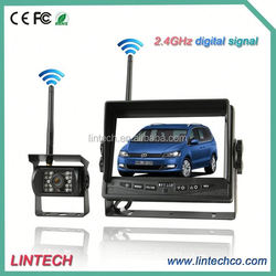 No interference-2.4GHz digital 7 inch wide view trailer and truck wireless camera