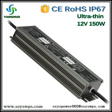 Ultra-thin led power driver 150w ip67 led power adapter 12v 18v power supply for led strips