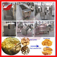 automatic cassava chips machines yam chips processing machines potato chips making machinery stainless steel high efficienty