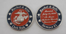 rachel kyle ooh rah military army coins, copper engraved collected coins