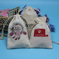 2015 salable fashion cotton drawstring cosmetic bag with pull string from Shenzhen packing supplier