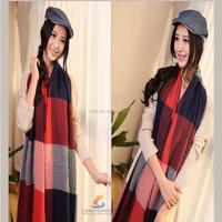 Large tartan cashmere shawl pashmina lovely best gift fashionable scarf