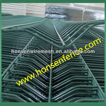 20years Original Factory!! V beamed mesh fence, Security fencing with Green color Powder coated