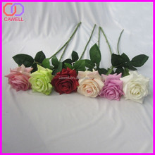 natural touch multi colored scented artificial single rose
