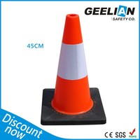 Flashing Roadway Safety Triangle Foam Rubber Cone