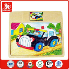 alibaba en china drive car on the way home children's toys wholesale promotional puzzle wooden car puzzle