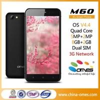"Ultra Thin Metal Rim M60 5"" QHD IPS 1G+8G 2MP+5MP Quad Core android best 5 inch smart phone"