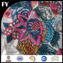 Custom high quality digital printed camouflage silk fabric