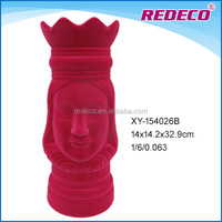 Polyresin candle holder flocking decorative queen figurines for sale