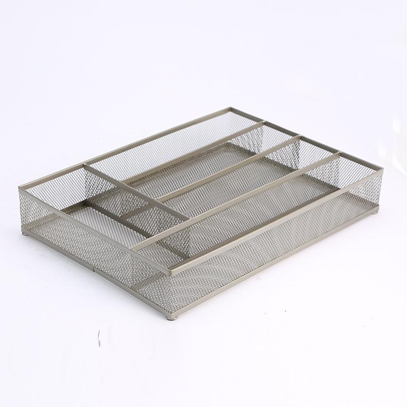 Metal mesh cutlery basket-5 cells.jpg