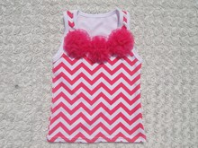 popular newest style baby top cotton chevron top KP-CT002