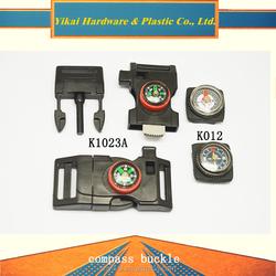 "fashionable plastic fire starter,3/4"" fire starter buckle,plastic compass buckle"