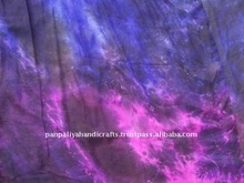 Hand-dyed Silk Belly Dance Veil - Hem at two edges , Perfect Veil for Professional Belly dance,Flows like the wind