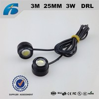 Auto LED daytime running lights Car 12V led 3M DRL 25MM DIY 3W eagle eye