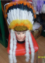 wholesale cheap indian feather headdress FW-0084