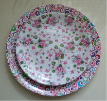 European pastoralism city style flower point & colourful bubble round 10.5 dinner plate