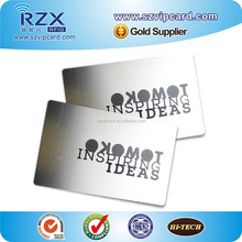 Cheap metal name/ business card with hollow letters