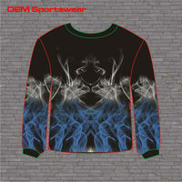 Best selling custom men's non hooded sweatshirt