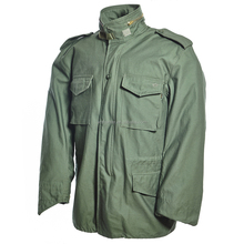 Waterproof military army green parka for men