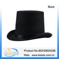 Victorian top hats for sale 100% polyester felt
