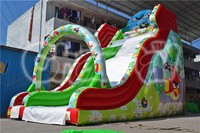 giant inflatable bird bouncy dry slide with arch for kids